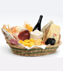 a basket full of foods